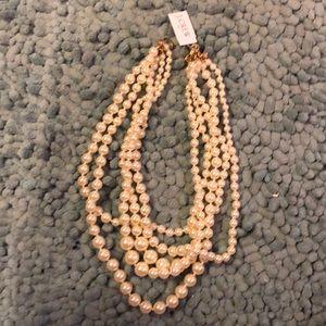 NWT JCrew Multi Strand Pearl Necklace
